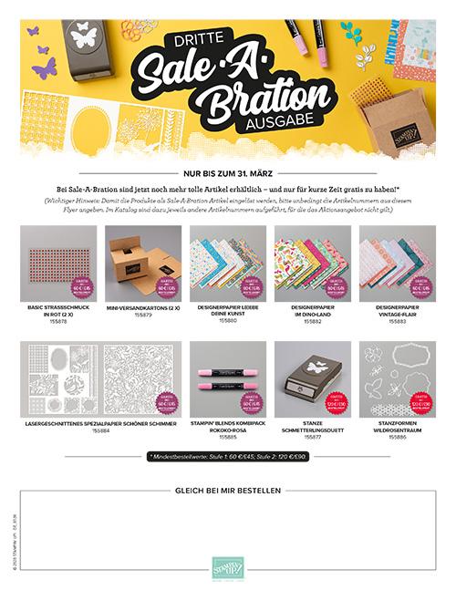 Dritte Sale-A-Bration-Broschüre 2020